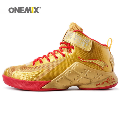ONEMIX Newest Men Basketball Shoes Male Ankle Boots Anti-slip outdoor Sport Sneakers Plus Size EU 39-46 - Hespirides Gifts - 1