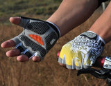 Cycling gloves Bike Bicycle gloves Hexagon 3D GEL Shockproof Sports Half Finger - Hespirides Gifts - 10