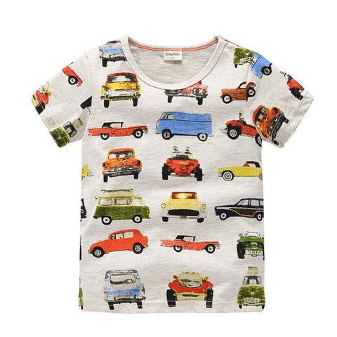 OneToo 1-10Y Children's T shirt boys t-shirt Baby Clothing Little boy Summer shirt Tees Designer Cotton Cartoon Dinosaur brand - The Fire Pits Store  - 1