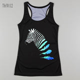 New Sexy Leopard Women Graffiti Printing 3D Vest Stripe Tank Tops Women - Hespirides Gifts - 11