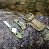 Portable Folding Camping Tool Stainless steel outdoor tableware folding tableware set picnic spoon fork travel kit - Hespirides Gifts - 4