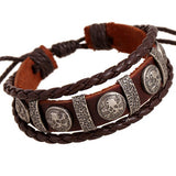 Vintage rope leather mens bracelets leather rope hand woven bracelet for men rope braided bracelet male female bracelet Jewelry - Hespirides Gifts - 24