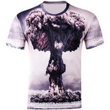 Hot Sale Men's Short Sleeve Polyester O Neck T Shirt Punk 3D Water Droplets Print T Shirt Men New Fashion 3D Tee Shirt - Hespirides Gifts - 5