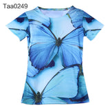 Personalized Butterfly 3D Girls T Shirt S-3XL time Women t-shirts Funny Short Sleeve