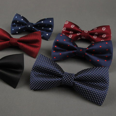 Newest Polyester Men's Bow Tie Brand Classic Dot Tie Bowtie For Men Leisure Business Shirts Bowknot Bow Tie Cravats Accessories - Hespirides Gifts - 1