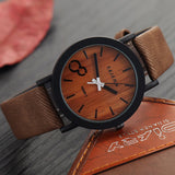 Simulation Wooden Relojes Quartz Men Watches Casual Wooden Color Leather Strap Watch Wood Male Wristwatch Relogio Masculino - The Fire Pits Store  - 12