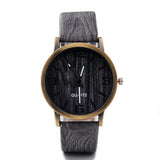 Classical Bamboo Wooden Watch New Arrival Women Wristwatches High Quality Vintage Style Men Dress Watch PU Leather Quartz Watch - Hespirides Gifts - 3