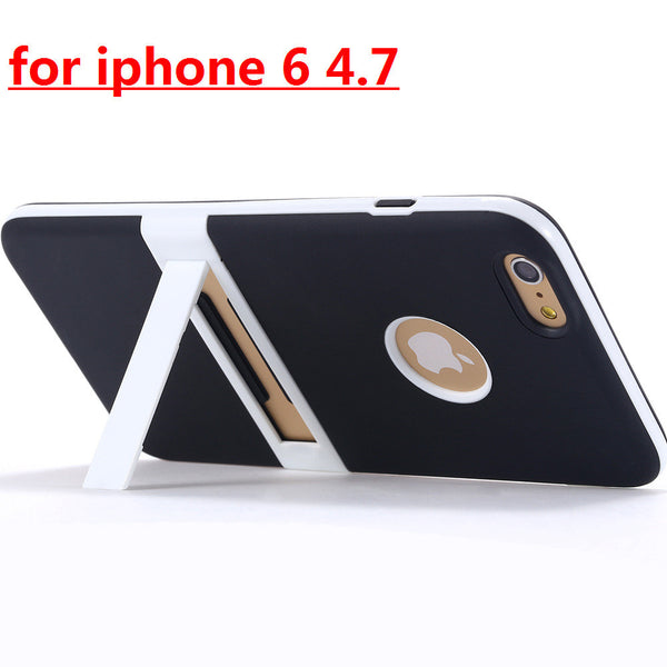 New Candy Color! Kickstand Soft TPU Case for Apple iphone 6 4.7/ Plus 5.5 Ultrathin Lovely Back Cover hole Logo +Body Stand Case - Hespirides Gifts - 5