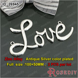 Round Oval Love Charms Pendants Diy Jewelry Findings Accessories More styles can picked - Hespirides Gifts - 16