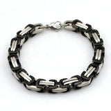 Hot Fashion Stainless Steel Bracelet Men Byzantine Link Chain Bracelets & bangles Pop Love Style, pulseira masculina