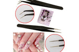 Hot Promotion 2 Black Acrylic Gel Nail Art Rhinestones Paillette Nipper Picking Tool - The Fire Pits Store  - 2