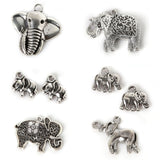 Wow Fashion antique silver plated elephant charms, Zinc Alloy - Hespirides Gifts - 1
