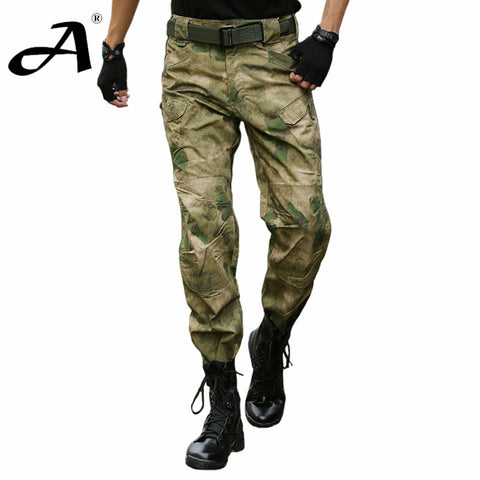 Multicam Airsoft Military Camouflage IX7 pants blind hunting clothing tactical cargo pants army combat pants camouflage fatigues - Hespirides Gifts - 1