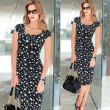 Vfemage Women Belted Elegant Floral Print Check Cap Sleeve Tunic Work Business Casual Party Pencil Sheath Wiggle Dress 288 - Hespirides Gifts - 15