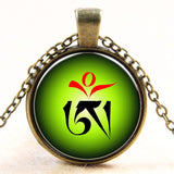 Newest Style Casual Yoga OM Pendant Necklace Fashion Round Ethnic Silver Plated - Hespirides Gifts - 3