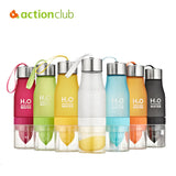 Lemon Juice Bottle Juices Fruit Bottles My Camping Colorful Health Bottle Shaker Frosted Plastic Outdoor cups 650ml Kettle HH652 - Hespirides Gifts - 1