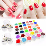 Professional Manicure UV Lamp Nail Gel Art Polish 36 Pure Colors - Hespirides Gifts - 2