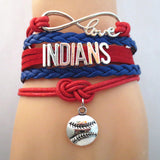Infinity Love INDIANS baseball Sports Team Bracelet Customize Sports friendship Bracelets B09337 - Hespirides Gifts - 4