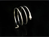 Fashion Punk Coiled Snake Spiral Upper Arm Cuff Bangle Bracelet Armlet For Men &Women - Hespirides Gifts - 3