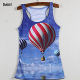 New Sexy Leopard Women Graffiti Printing 3D Vest Stripe Tank Tops Women - Hespirides Gifts - 12