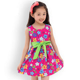 Summer New Casual Cotton Girl Dress Sleeveless Baby Girls Clothes Flowers Girl Print Dresses Vestido Infantil Kids Clothes