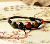 Fashion Ethnic Style High Quality Original Ceramic Bronze Adjustable Handmade Porcelain Beads Rope Bracelets For Women he005 - Hespirides Gifts - 7