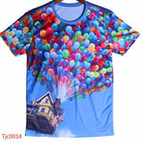 european style creative t shirt fashion sightseeing printing t-shirt short sleeve o neck - Hespirides Gifts - 9