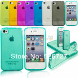 Ultra thin Colorful Transparent CLEAR JELLY TPU Gel Soft Silicone Case Cover Protector For iPhone 4 4S 5 5S 5G SE 6 6s 6 Plus - The Fire Pits Store  - 6