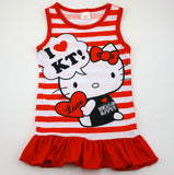 Spring Summer Minnie Children Cute Princess Dresses Baby Girl Dress Fashion Cartoon Clothing 2 Colors Pink Red - The Fire Pits Store  - 4