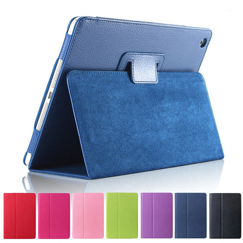 Matte Litchi Surface Flip PU Leather Case for apple Ipad Mini 1 2 3 with Retina Smart Stand Magnetic Sleep Wake UP Pouch Cover - The Fire Pits Store  - 1