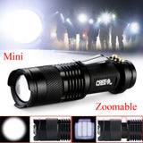 Mini 2000 Lumens Bright CREE Q5 LED Adjustable Zoom Focus Flashlight Torch Lamp - Hespirides Gifts - 7