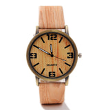 Classical Bamboo Wooden Watch New Arrival Women Wristwatches High Quality Vintage Style Men Dress Watch PU Leather Quartz Watch - Hespirides Gifts - 1