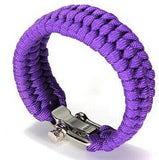 Paracord Survival Bracelet Men Camping Outdoor Woven Parachute Shackle Pin Buckle - Hespirides Gifts - 7