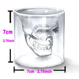 Hot Special Transparent Crystal Skull Head Shot Glass Cup For Whiskey Wine Vodka Home Drinking Ware - Hespirides Gifts - 2