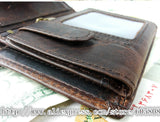 Vintage Crazy Horse Leather Wallets For Men New Card Holder Coin Purse,Natural - Hespirides Gifts - 2