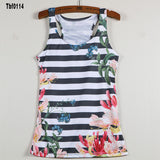 New Sexy Leopard Women Graffiti Printing 3D Vest Stripe Tank Tops Women - Hespirides Gifts - 8