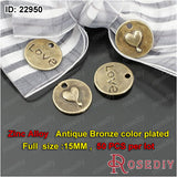 Round Oval Love Charms Pendants Diy Jewelry Findings Accessories More styles can picked - Hespirides Gifts - 9
