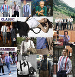 Fashion leather alloy 6 clips male vintage casual suspenders commercial western-style trousers man's braces strap - Hespirides Gifts - 3