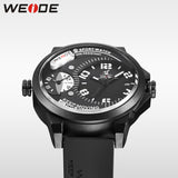 WEIDE Men Watches New Luxury Brand Clock Male 30m Waterproof Silcone Band Dual Time Zones Casual Sports Men Quartz Wrist Watch - Hespirides Gifts - 8
