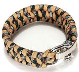 Paracord Survival Bracelet Men Camping Outdoor Woven Parachute Shackle Pin Buckle - Hespirides Gifts - 17