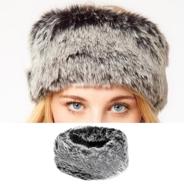 Fake Fur Headwear Euramerican Headband Turtleneck Ring Plush Head Hair Bands - Hespirides Gifts - 1