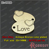Round Oval Love Charms Pendants Diy Jewelry Findings Accessories More styles can picked - Hespirides Gifts - 3