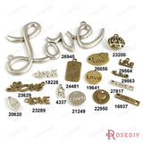 Round Oval Love Charms Pendants Diy Jewelry Findings Accessories More styles can picked - Hespirides Gifts - 1