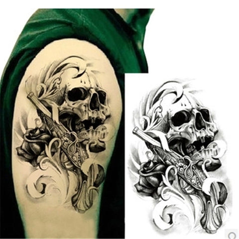 Cool 3D Tattoo Handsome Transfer Tattoo Stickers on the Body Black Fake Waterproof - Hespirides Gifts