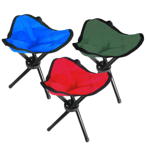 Folding Outdoor Camping Hiking Fishing Picnic Garden BBQ Stool Tripod Three feet Chair Seat Wholesale - Hespirides Gifts - 1