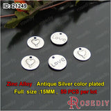 Round Oval Love Charms Pendants Diy Jewelry Findings Accessories More styles can picked - Hespirides Gifts - 4