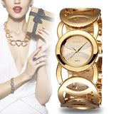 WEIQIN Brand Luxury Crystal Gold Watches Women Fashion Bracelet Quartz Watch - Hespirides Gifts - 1