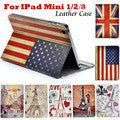Matte Litchi Surface Flip PU Leather Case for apple Ipad Mini 1 2 3 with Retina Smart Stand Magnetic Sleep Wake UP Pouch Cover - The Fire Pits Store  - 15