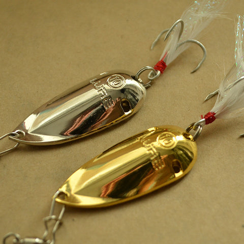 lure special price catfish spoon fishing lures 5g 10g 15g gold/silver cicada metal lure - Hespirides Gifts - 1