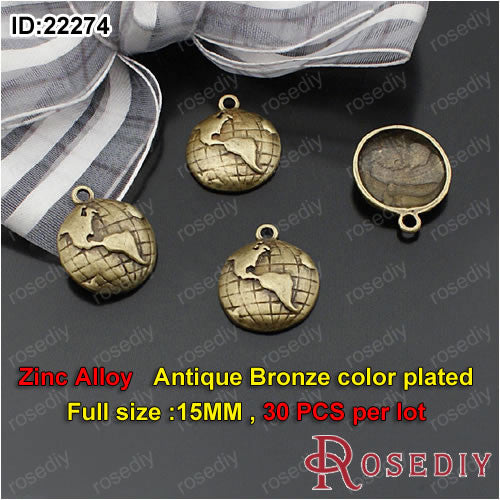 Cloud Map Lightning Earth satellite Globe Charms Pendants Accessories More styles can picked - Hespirides Gifts - 3